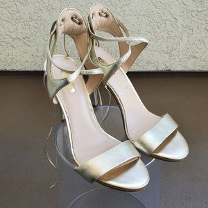 Gold Strappy Guess Heels